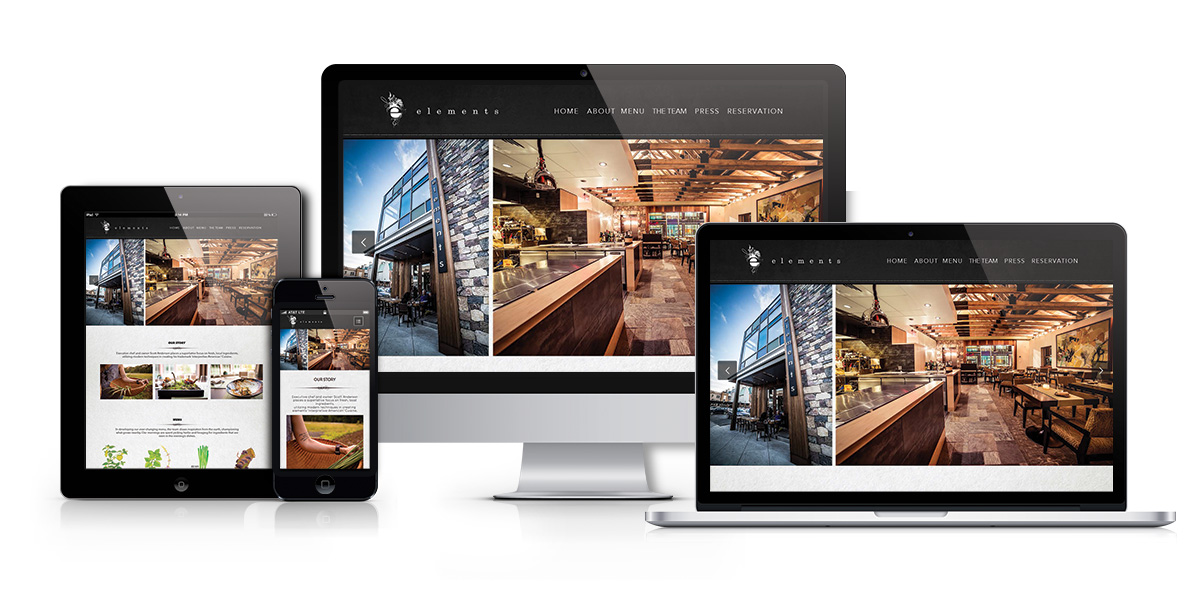 Elements restaurant responsive design